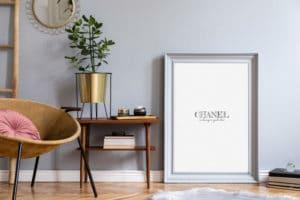 Plakat Chanel w ramie