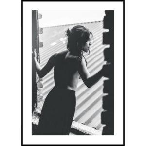 Plakat Kobieta w oknie