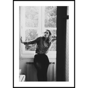 Plakat Kobieta przy oknie