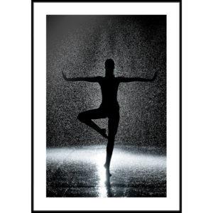 Plakat Kobieta w deszczu