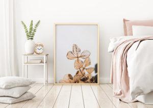 Plakat Szkielet hortensji w sypialni
