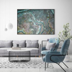 Plakat Żyły Ziemi na ścianie