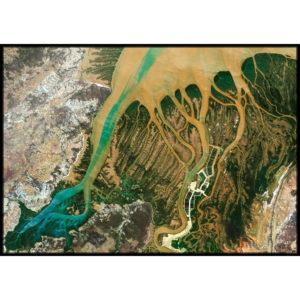 Plakat Delta afrykańskiej rzeki