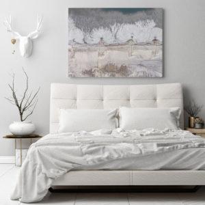 Plakat Abstrakcyjna natura w sypialni
