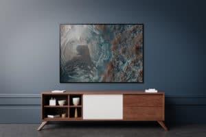 Plakat Mars na ścianie