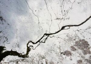 Plakat Mroźna rzeka
