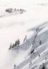 górski krajobraz we mgle