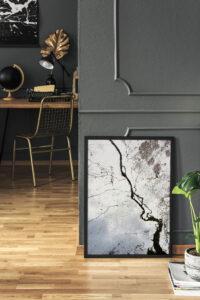Plakat Mroźna rzeka w ramie
