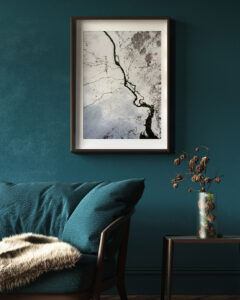 Plakat Mroźna rzeka na ścianie